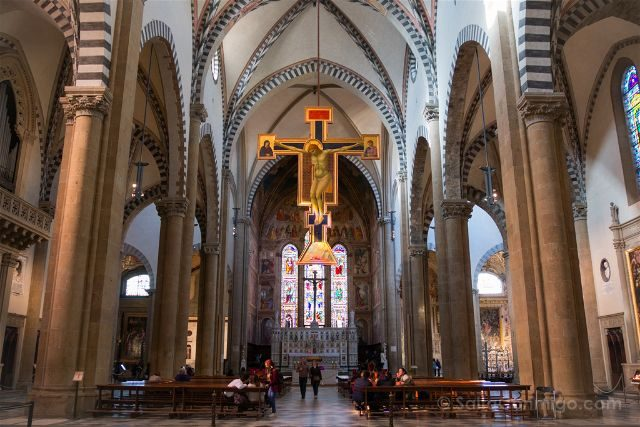 Italia Florencia Santa Maria Novella Crucifijo Giotto