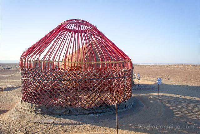 Uzbekistan Kyzyl Kum Desierto Yurta Estructura