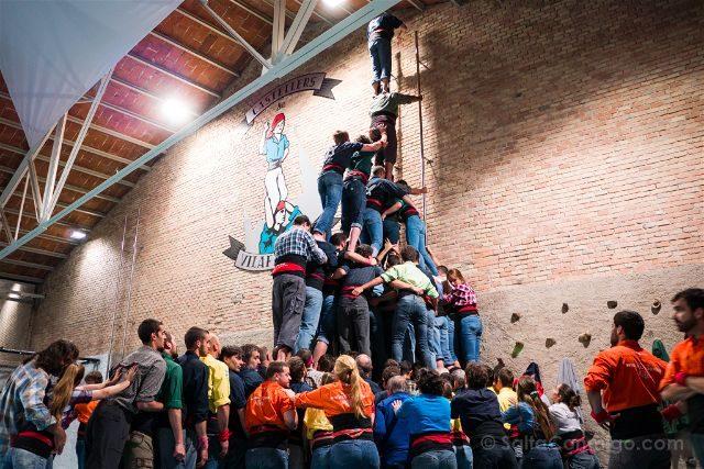 Catalunya Barcelona Castellers Vilafranca Cal Figarot Ensayo Pilar Folre Manilles