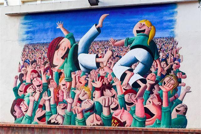 Catalunya Barcelona Castellers Vilafranca Cal Figarot Mural