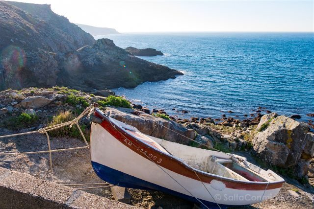 Francia Bretagne Pointe Du Raz Puerto Natural Barca