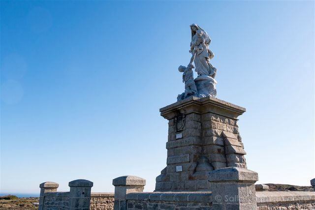 Francia Bretagne Pointe Du Raz Virgen