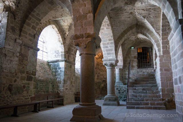 Francia Normandia Abadia Mont Saint-Michel Escaleras