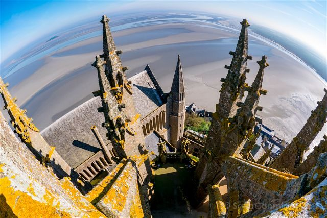 Francia Normandia Abadia Mont Saint-Michel Iglesia Torre Maravilla