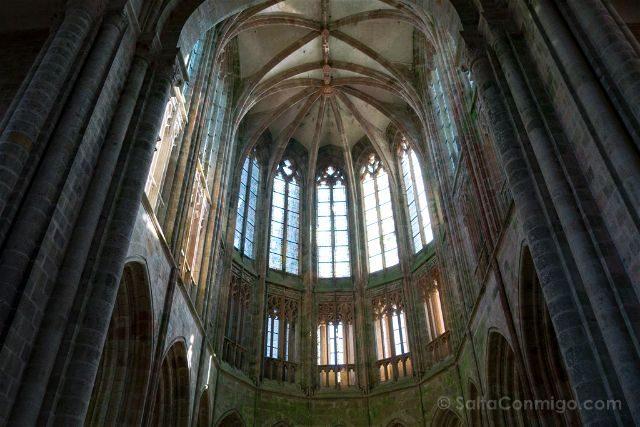 Francia Normandia Abadia Mont Saint-Michel Iglesia Abside