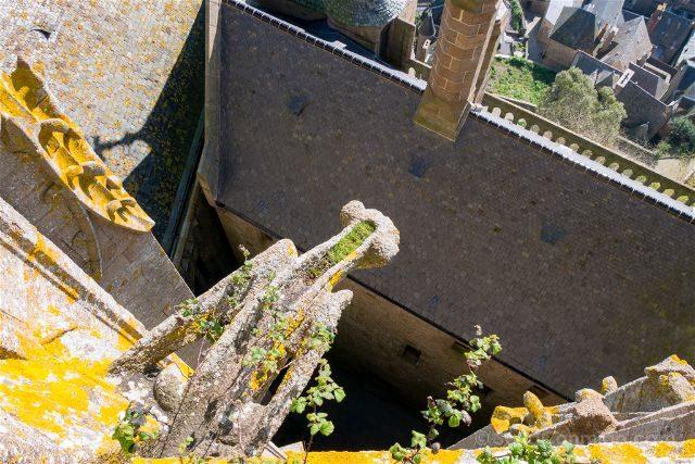 Francia Normandia Abadia Mont Saint-Michel Iglesia Gargola