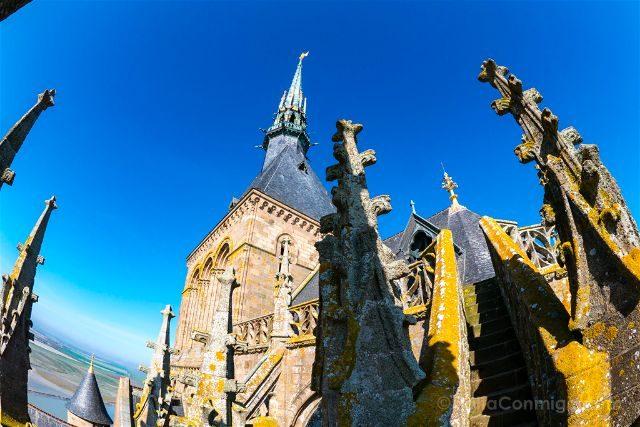 Francia Normandia Abadia Mont Saint-Michel Iglesia Torre Ojo Pez