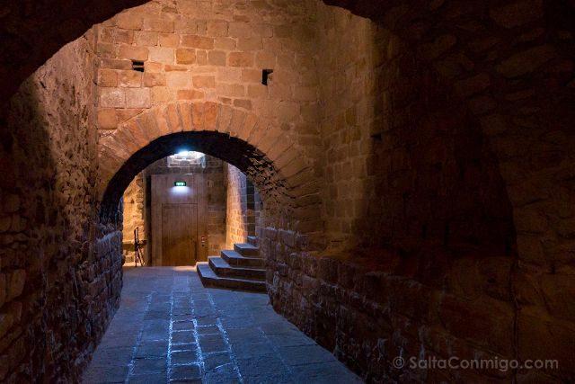 Francia Normandia Abadia Mont Saint-Michel Pasillo