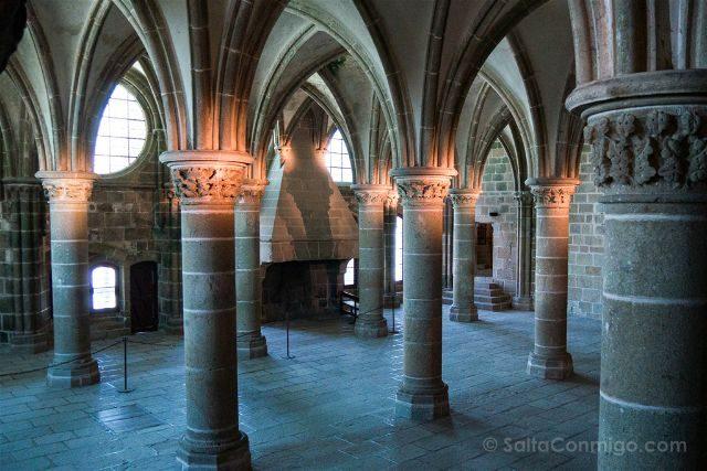 Francia Normandia Abadia Mont Saint-Michel Sala Huespedes Nobles