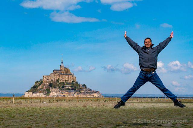 Francia Normandia Mont Saint-Michel Prado Salto