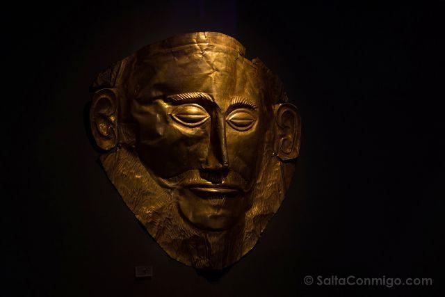 Grecia Atenas Museo Arqueologico Nacional Mascara Agamenon