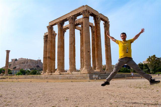 Grecia Atenas Olimpeion Zeus Olimpico Salto