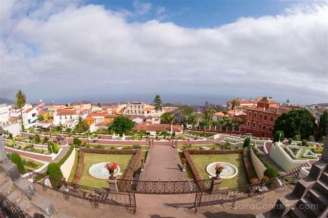 Islas Canarias Tenerife Norte La Orotava Vista Jardines Quinta Roja