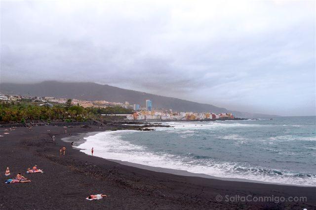 Islas Canarias Tenerife Norte Puerto De La Cruz Playa