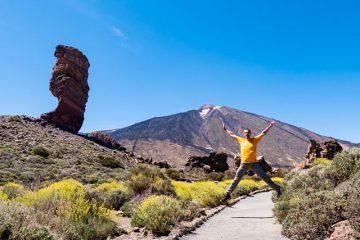 Islas Canarias Tenerife Teide Roque Cinchado Salto