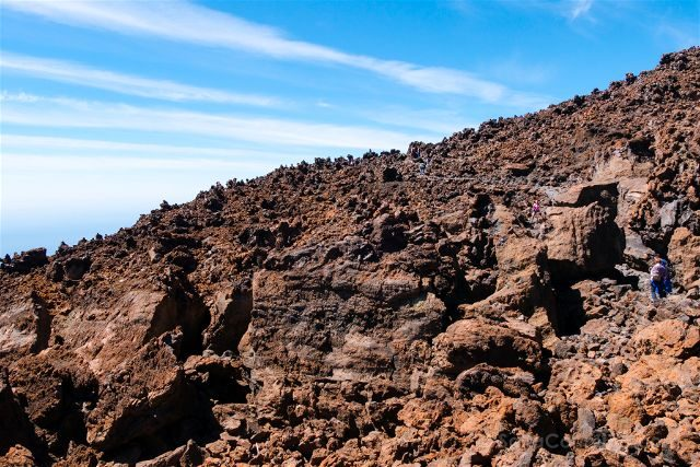 Islas Canarias Tenerife Teide Sendero Rojo