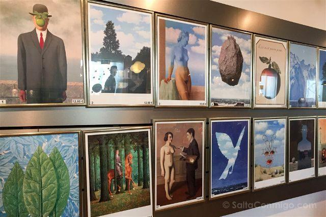 Belgica Bruselas Magritte Museo Tienda