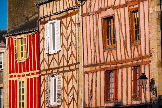 Francia Bretagne Vannes Casas Entramado Madera