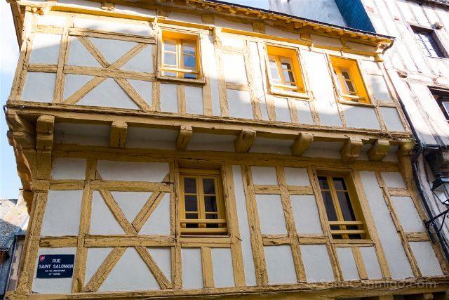 Francia Bretagne Vannes Casas Entramado Madera Rue St Salomon
