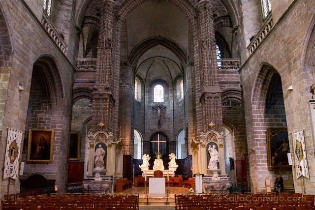Francia Bretagne Vannes Catedral St Pierre Interior
