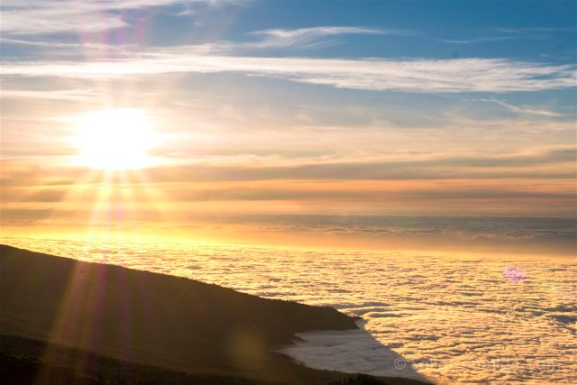 Islas Canarias Tenerife Mar De Nubes Atardecer