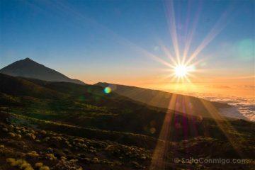 Islas Canarias Tenerife Teide Miradores Atardecer Estrella