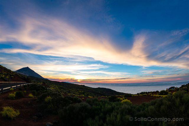 Islas Canarias Tenerife Teide Miradores Atardecer Ojo Pez