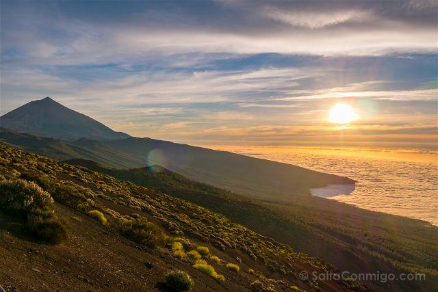 Islas Canarias Tenerife Teide Miradores Atardecer