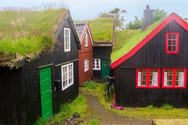 Islas Feroe Torshavn Tinganes Casas