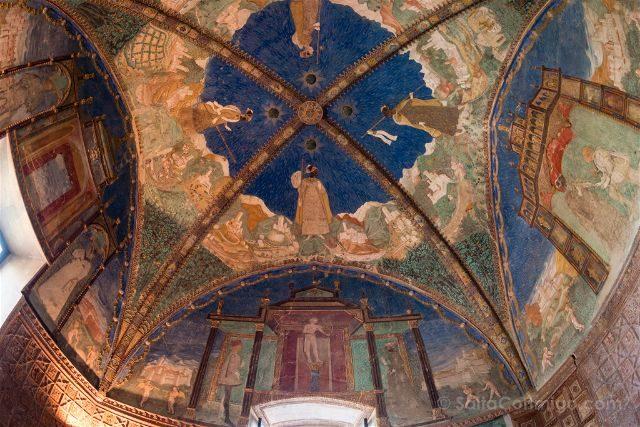 Italia Emilia Romagna Parma Castello Torrechiara Sala