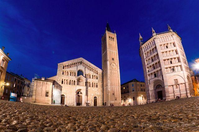 Italia Emilia Romagna Parma Piazza Duomo Nocturna
