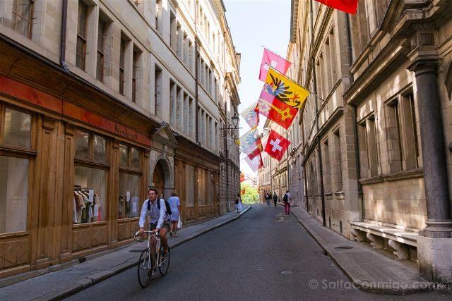 Suiza Ginebra Calles Bici