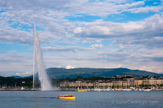 Suiza Ginebra Lago Leman Barco