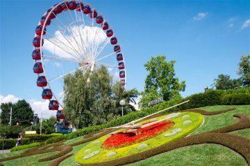 Suiza Ginebra Reloj Flores Noria