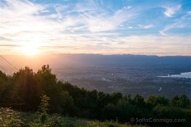 Suiza Ginebra Saleve Vista