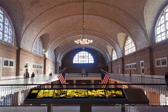 Nueva York Ellis Island Museo Inmigracion Sala Recepcion 2