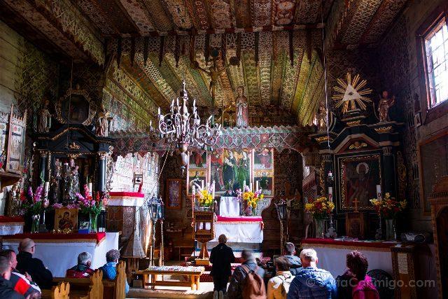 Polonia Malopolska Debno Arcangel San Miguel Interior