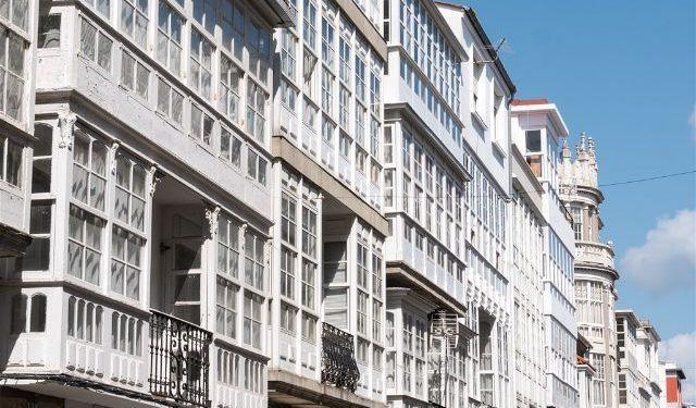 Galicia Ferrol Calles Balcon Acristalado