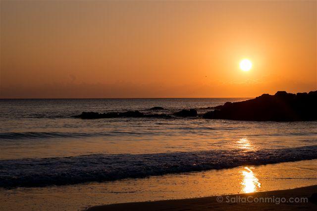 Galicia Ferrol Playa Doninos Puesta Sol