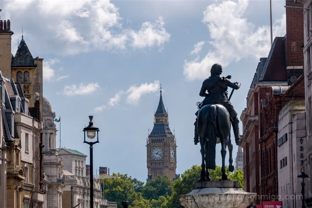 Inglaterra Londres Big Ben Trafalgar Square
