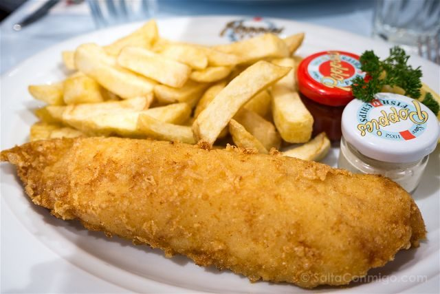 Inglaterra Londres Poopies Fish Chips