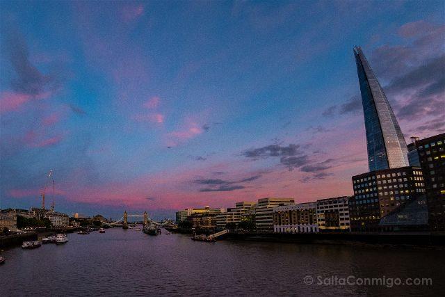 Inglaterra Londres Tower Bridge Atardecer