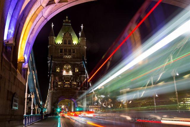 Inglaterra Londres Tower Brigde Noche