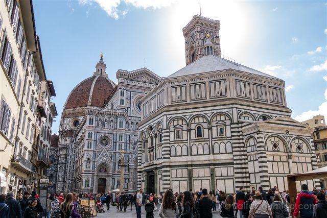 Italia Florencia Duomo Battisterio Campanile Piazza