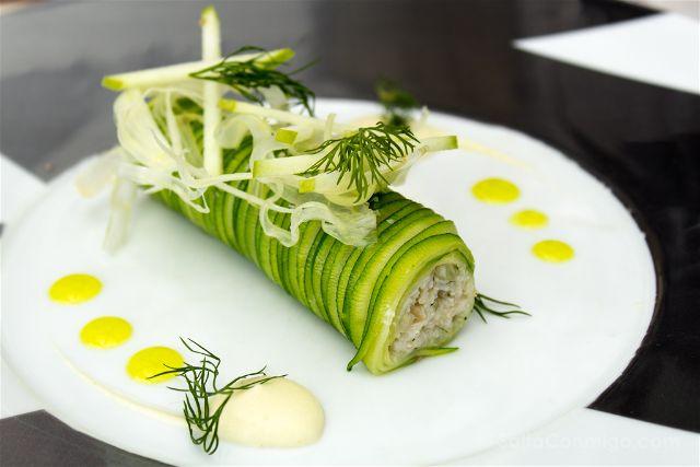 Paris Donde Comer Restaurante Les Ombres Canelon Calabacin