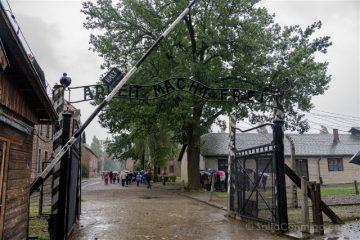 Polonia Cracovia Auschwitz Entrada