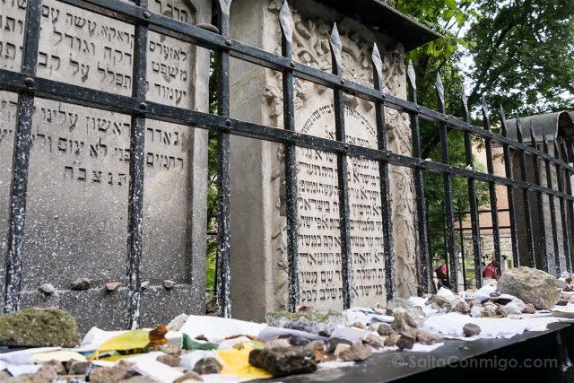 Polonia Cracovia Barrio Judio Sinagoga Remuh Cementerio