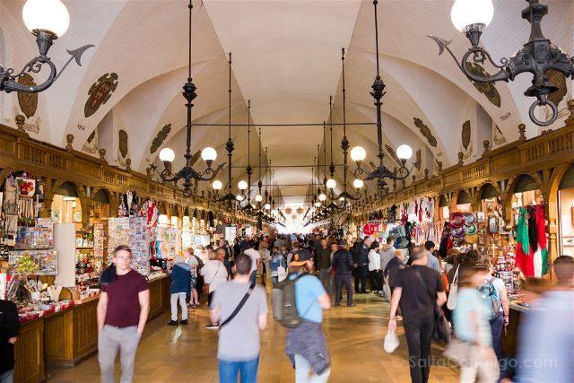 Polonia Cracovia Plaza Mercado Panos Interior