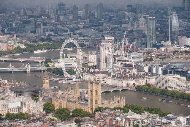 Reino Unido Inglaterra Londres Helicoptero Parlamento
