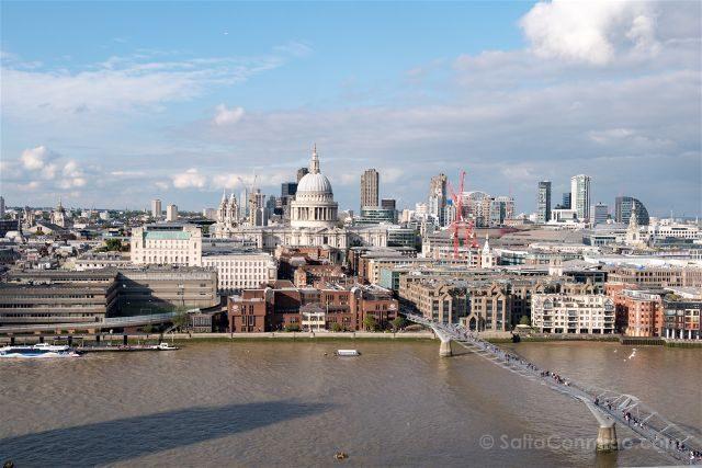 Reino Unido Inglaterra Londres Tate Modern Millennium Bridge